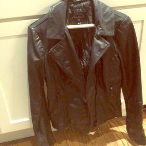 Black leather look jacket by MAVI